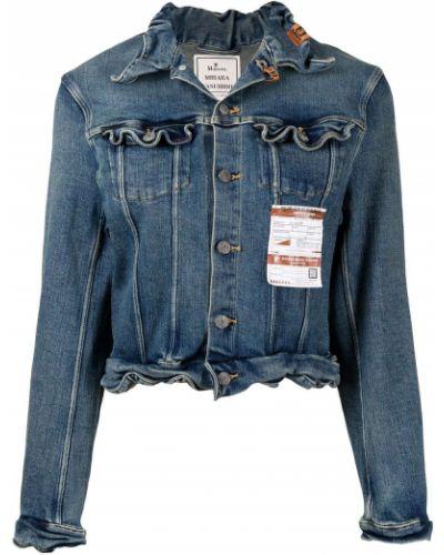 Синяя хлопковая джинсовая куртка Maison Mihara Yasuhiro
