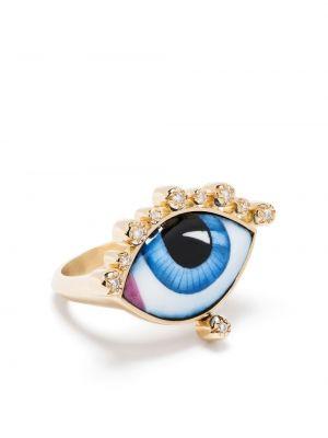 Biały złoty pierścionek z diamentem Lito