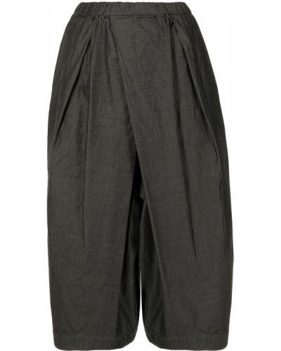 С завышенной талией хлопковые серые укороченные брюки Comme Des Garçons Comme Des Garçons