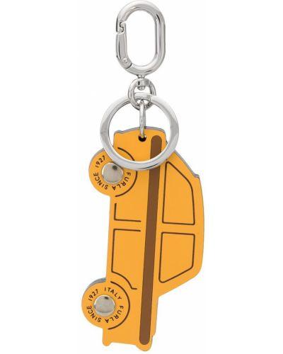 Оранжевый брелок с подвесками металлический Furla