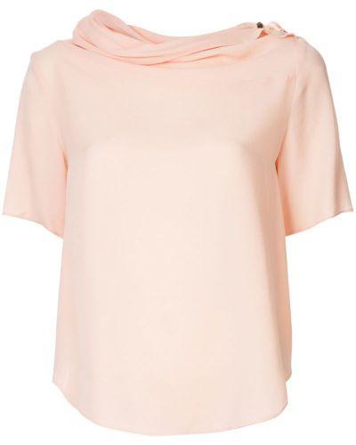 Блузка с коротким рукавом розовая батник Ginger & Smart