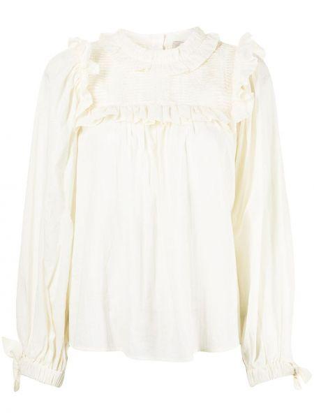 Хлопковая блузка - белая Sea