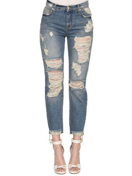 Хлопковые джинсы - синие Up Jeans
