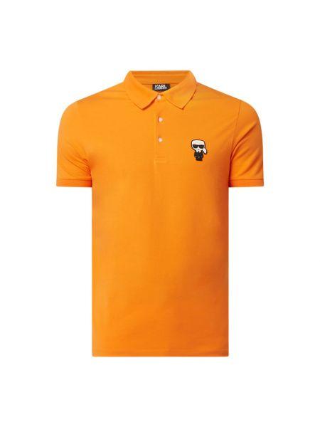 Pomarańczowy t-shirt bawełniany Karl Lagerfeld