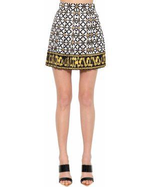 Юбка с завышенной талией шелковая Versace