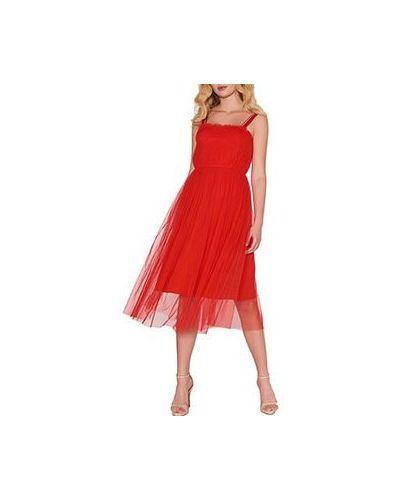 Повседневное платье красный ли-лу