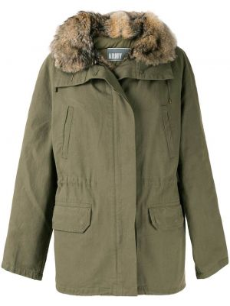 Пальто с капюшоном с карманами Yves Salomon Army