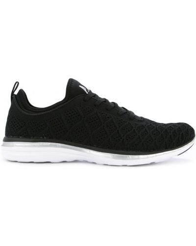 Кроссовки черные на шнуровке Apl