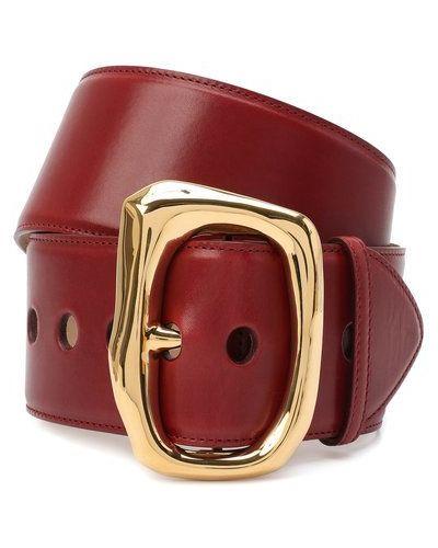 Кожаный красный ремень Alexander Mcqueen
