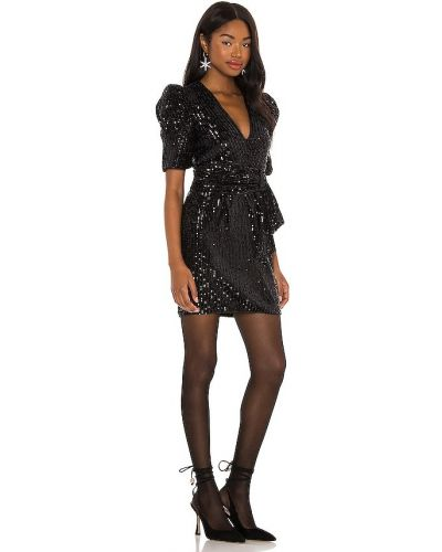 Черное платье с подкладкой на молнии Saylor