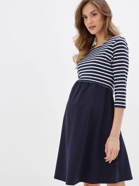 Платье синее весеннее Hunny Mammy