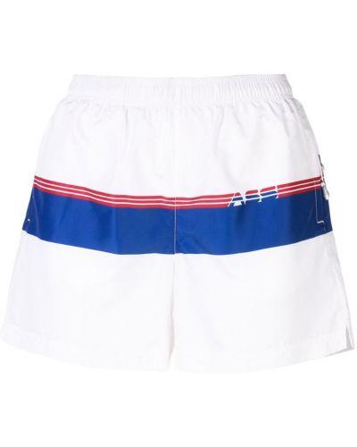 Белые спортивные шорты с карманами Adam Selman Sport