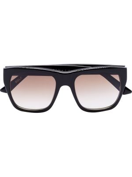 Czarne okulary z akrylu vintage Kirk Originals
