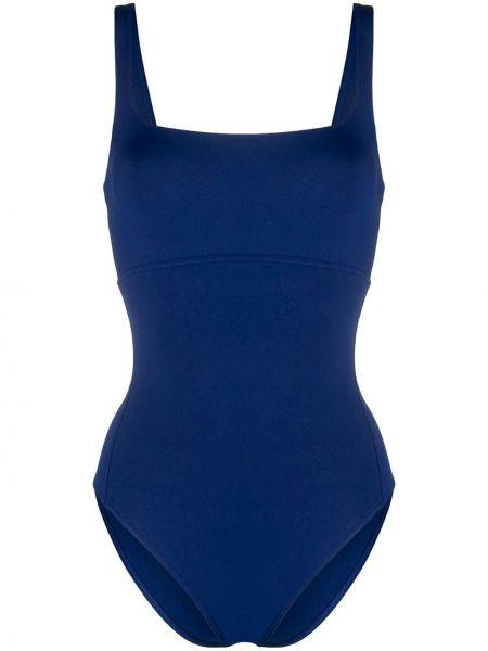 Синий плюшевый слитный купальник с разрезом Eres