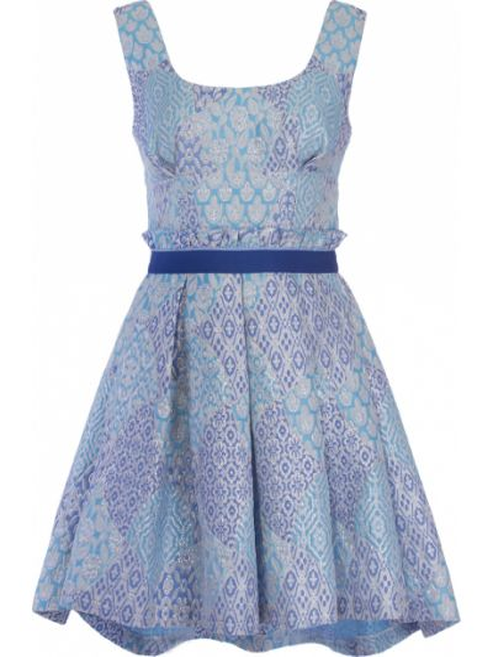 Шелковая юбка со складками на молнии квадратная Christian Pellizzari