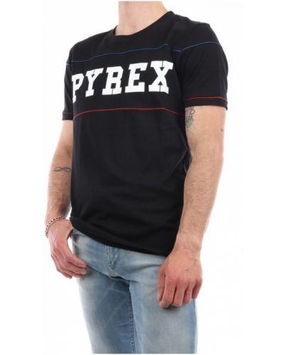 Czarny t-shirt krótki rękaw Pyrex