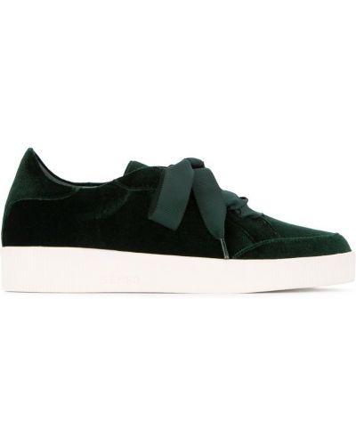 Кроссовки на шнуровке зеленый Senso