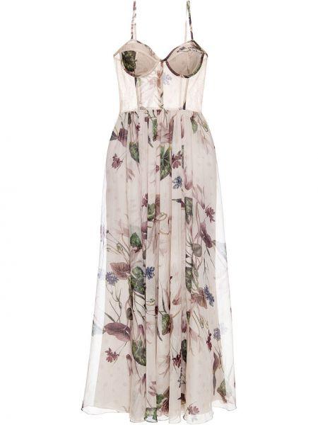 Приталенное расклешенное платье с вырезом Patbo