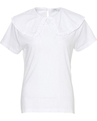 Biały t-shirt krótki rękaw z falbanami Neo Noir