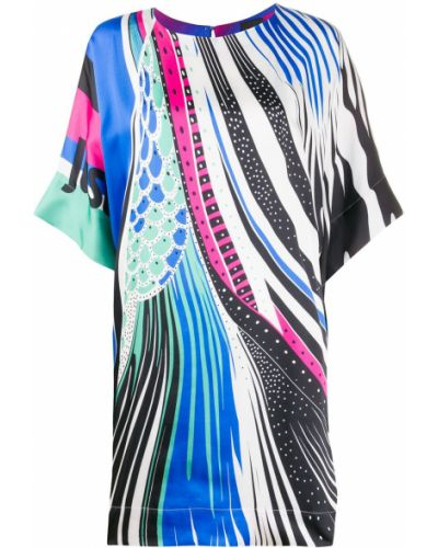 Платье мини короткое - синее Just Cavalli