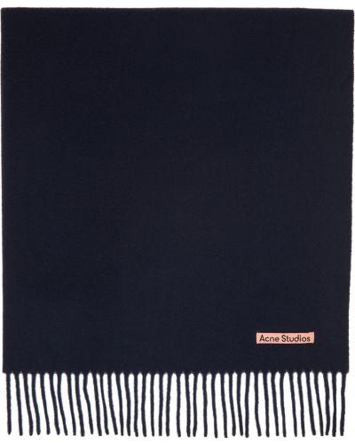 Czarny szalik wełniany Acne Studios