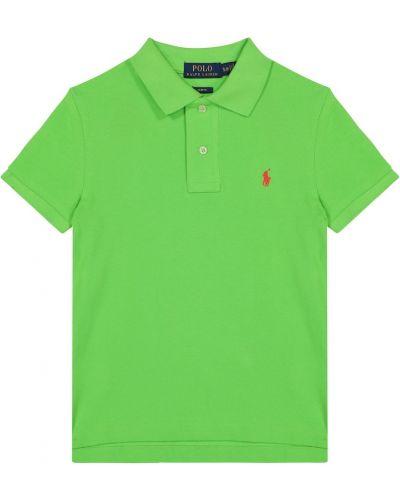 Klasyczna zielona klasyczna koszula bawełniana Polo Ralph Lauren Kids