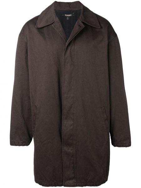 Brązowy płaszcz bawełniany z długimi rękawami Yeezy