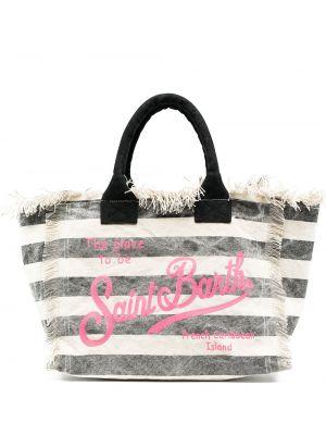 Хлопковая пляжная сумка-тоут с карманами Mc2 Saint Barth