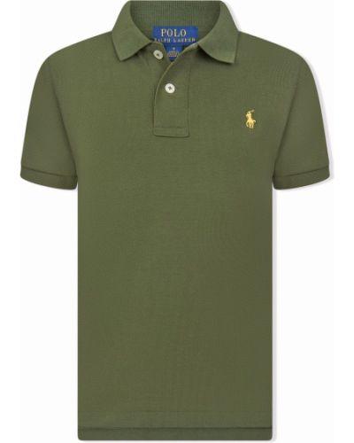 Koszula krótki rękaw - zielona Ralph Lauren Kids