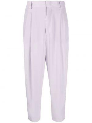 Свободные серые укороченные брюки свободного кроя Emilio Pucci