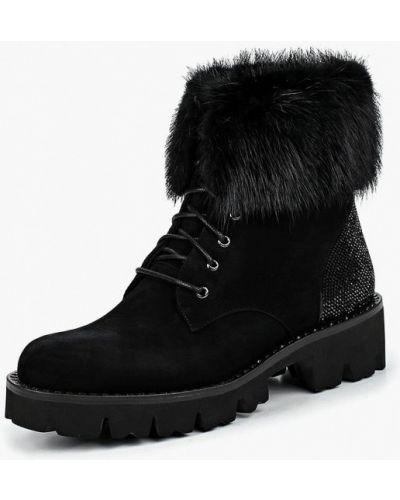 Кожаные ботинки осенние черные Mallanee