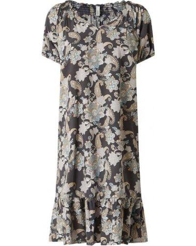 Sukienka mini rozkloszowana z falbanami z wiskozy Soyaconcept