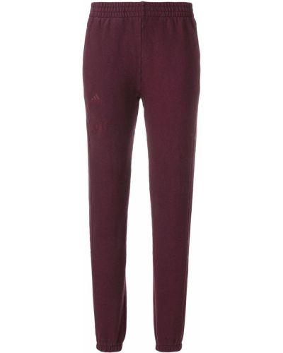 Хлопковые розовые спортивные брюки эластичные Yeezy