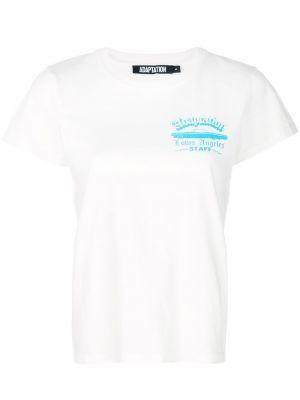 Biały t-shirt bawełniany krótki rękaw Adaptation