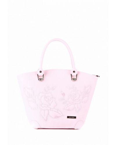 Розовая кожаный сумка Alba Soboni