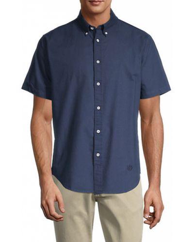 Niebieska koszula krótki rękaw bawełniana Rag & Bone