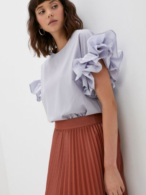 Фиолетовая блузка осенняя M,a,k You Are Beautiful