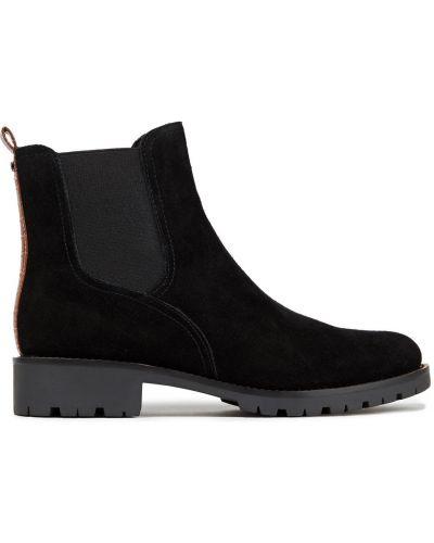 Замшевые ботинки челси - черные Sam Edelman