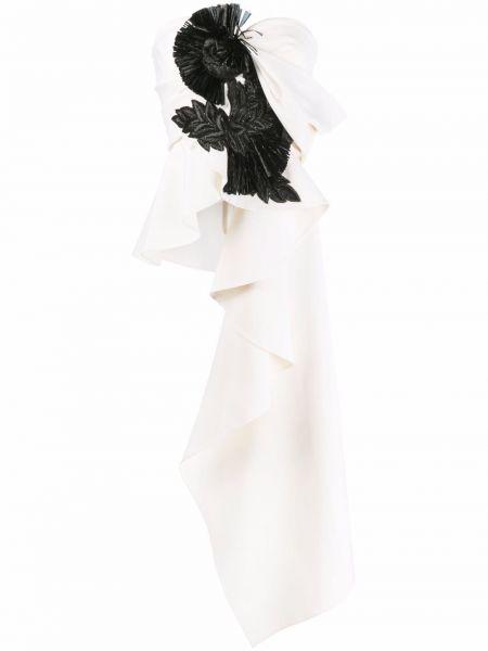 Белая шерстяная блузка Oscar De La Renta