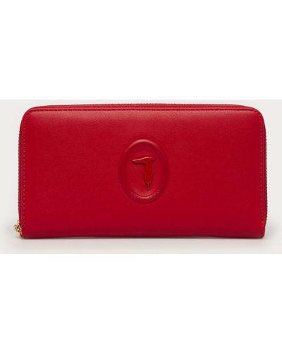 Czerwony portfel oversize bawełniany Trussardi Jeans