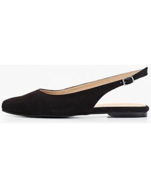 Туфли на каблуке черные с открытой пяткой Pier One