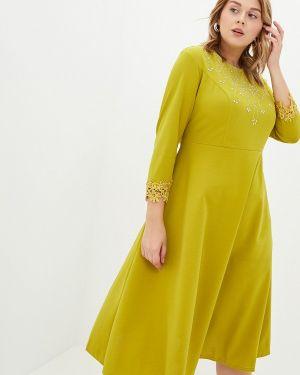 Повседневное платье желтый Blagof