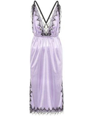 Платье миди фиолетовый сатиновое Christopher Kane