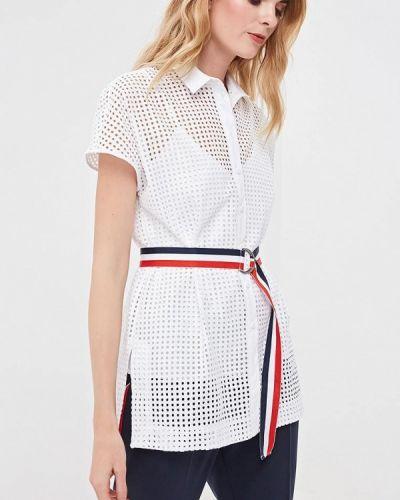 Блузка с коротким рукавом белая весенний Villagi
