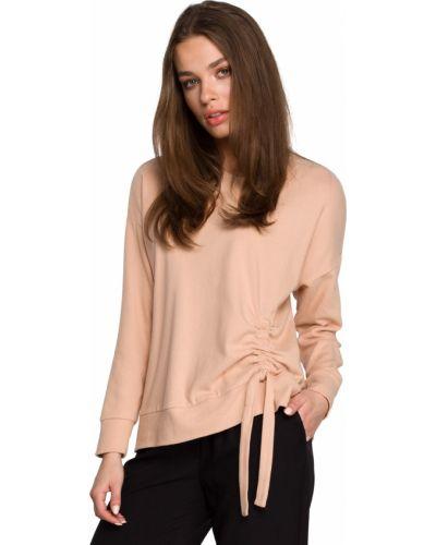 Beżowy pulower bawełniany casual Stylove