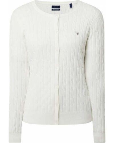 Biały kardigan bawełniany Gant