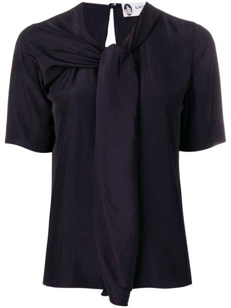 Блузка с короткими рукавами - черная Lanvin