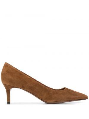 Кожаные коричневые туфли-лодочки на каблуке L'autre Chose