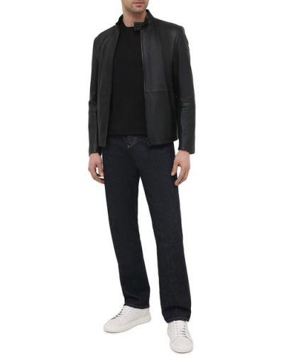 Кожаная куртка с подкладкой Emporio Armani