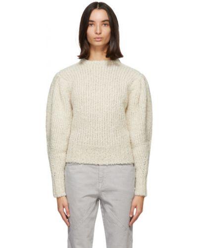 Sweter z kołnierzem z alpaki z mankietami z długimi rękawami Isabel Marant